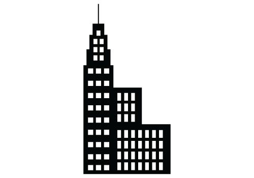 Free building silhouette vector clipart.