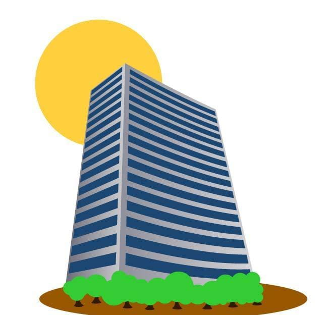 Tall building vector clip art cdr, ai, eps file.