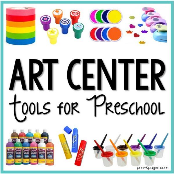 Art Center Tools for Preschool.