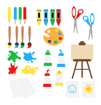 Art Class Clipart, School Clip Art, Back to School Clipart, Art Supplies,  Paint.