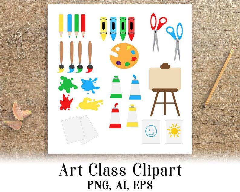 Art Class Clipart, School Clip Art, Back to School Clipart, Teaching  Clipart, Education Graphics, Art Clipart, Art Supplies, Paint Brush.