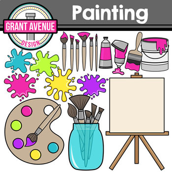 Painting Supplies Clipart.