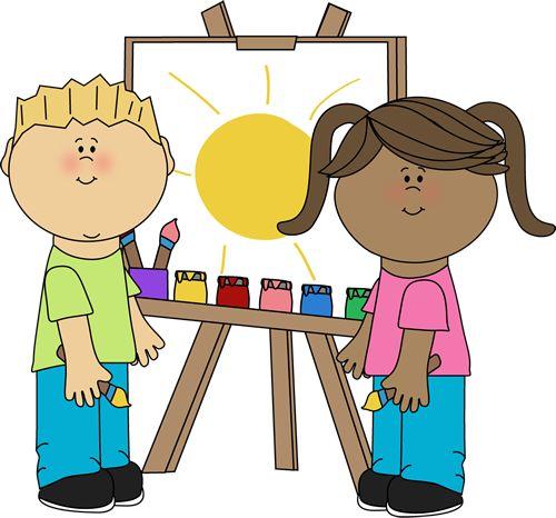 Art class clipart for kids.