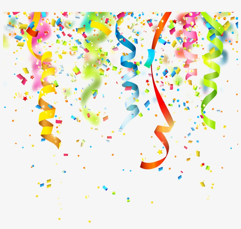 Birthday Confetti Party Clip Art.
