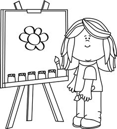 Art clipart black and white 1 » Clipart Station.