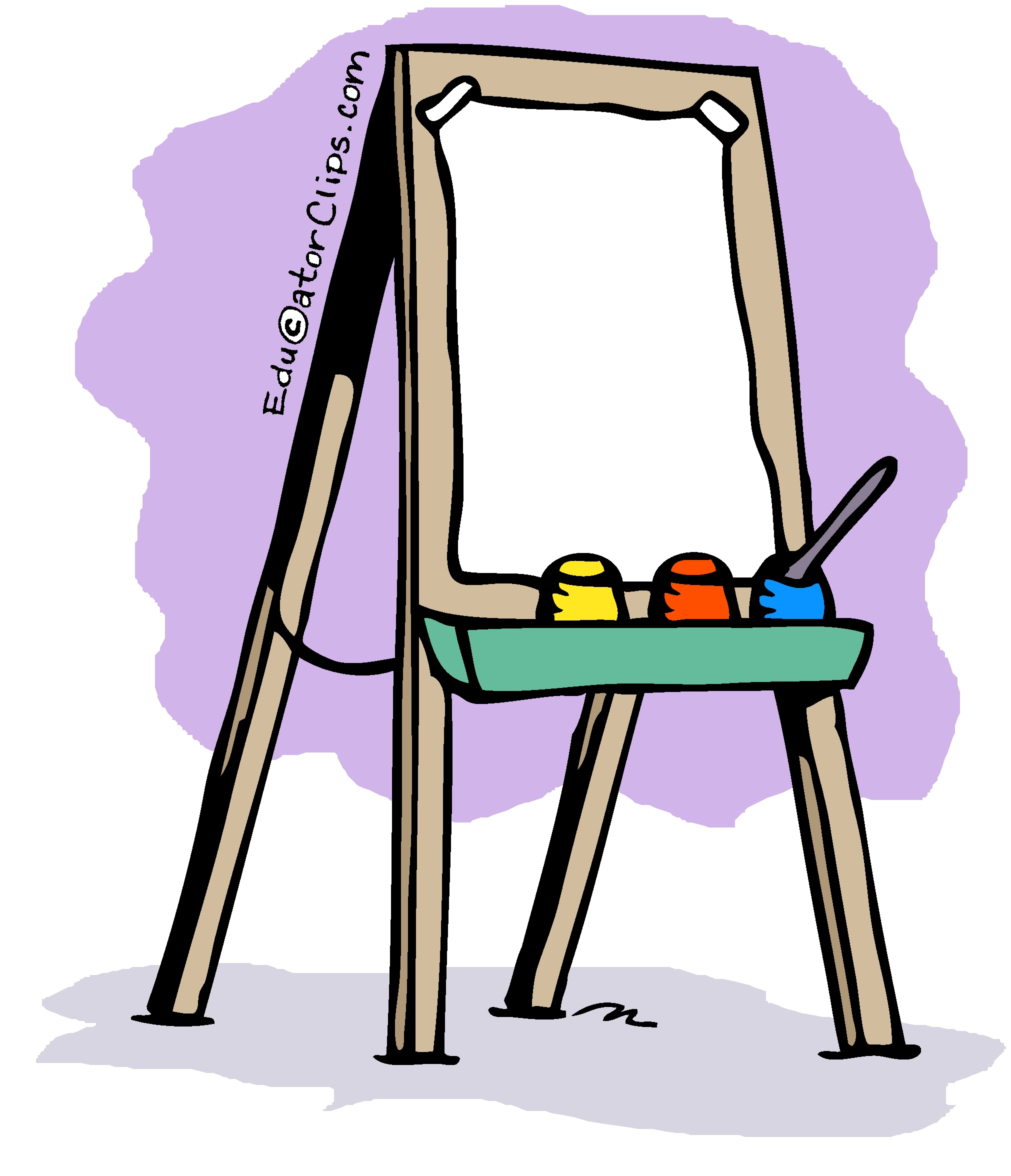 Download High Quality artist clipart easel Transparent PNG.