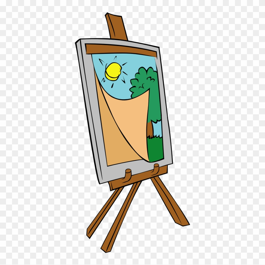 Easel With Kids Painting.