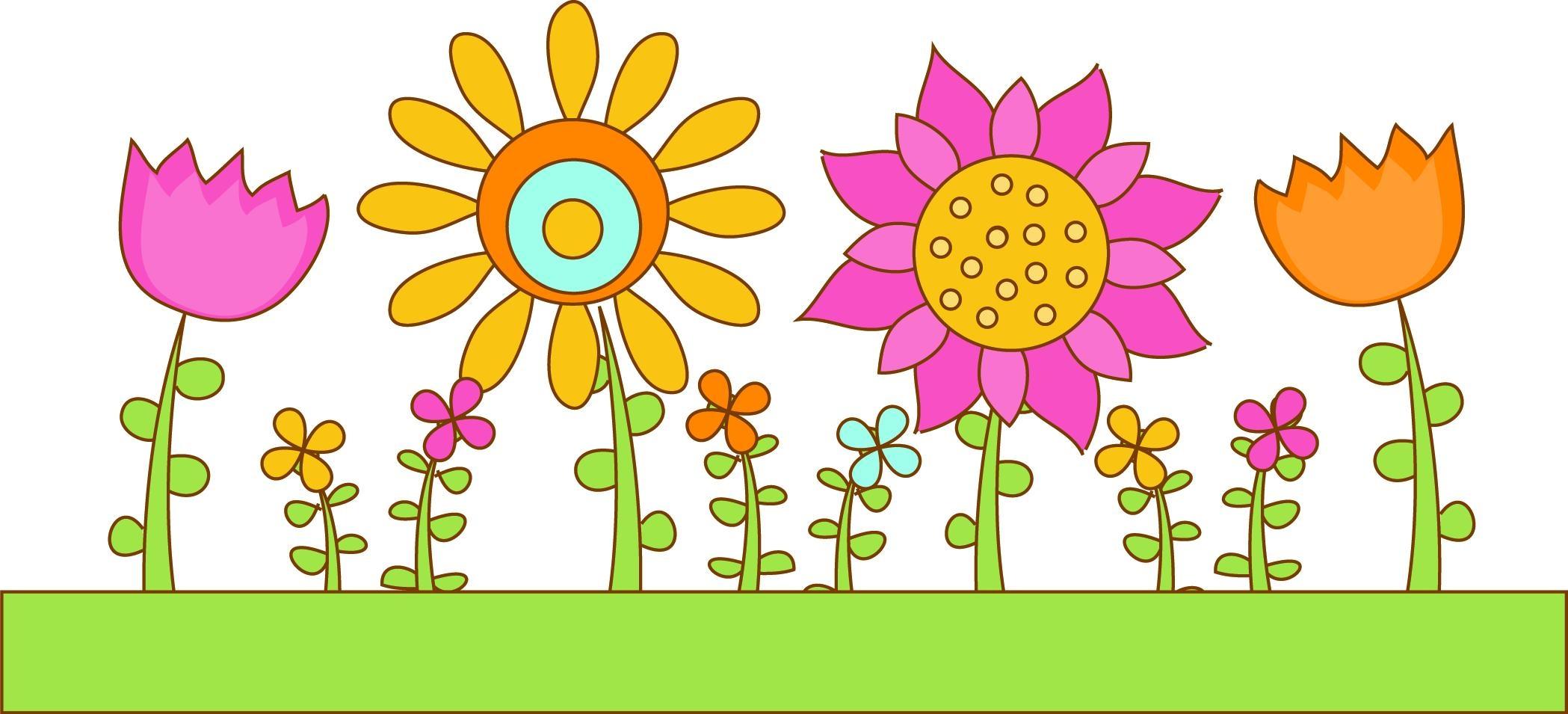 Flower garden border clip art Beautiful HD Flower Garden.