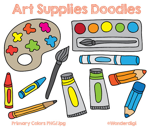 Art Supplies Clipart.