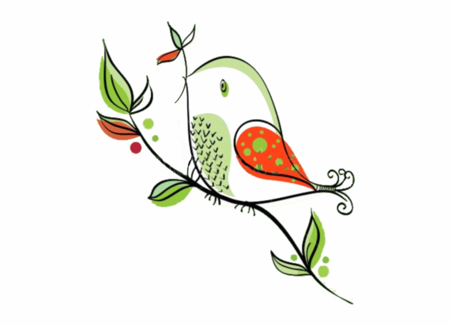 Bird House Clipart Whimsical Lovely Cartoon Animal Holding.