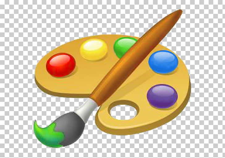 Painting Palette Art , paint brush, paint palette and brush.