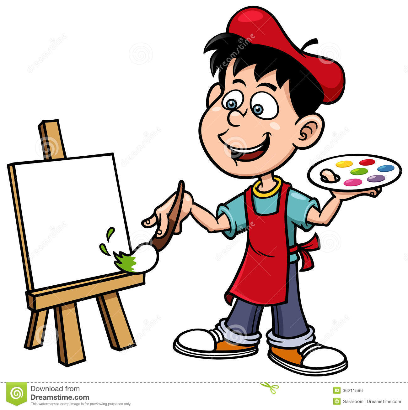 Painting Artist Clipart.