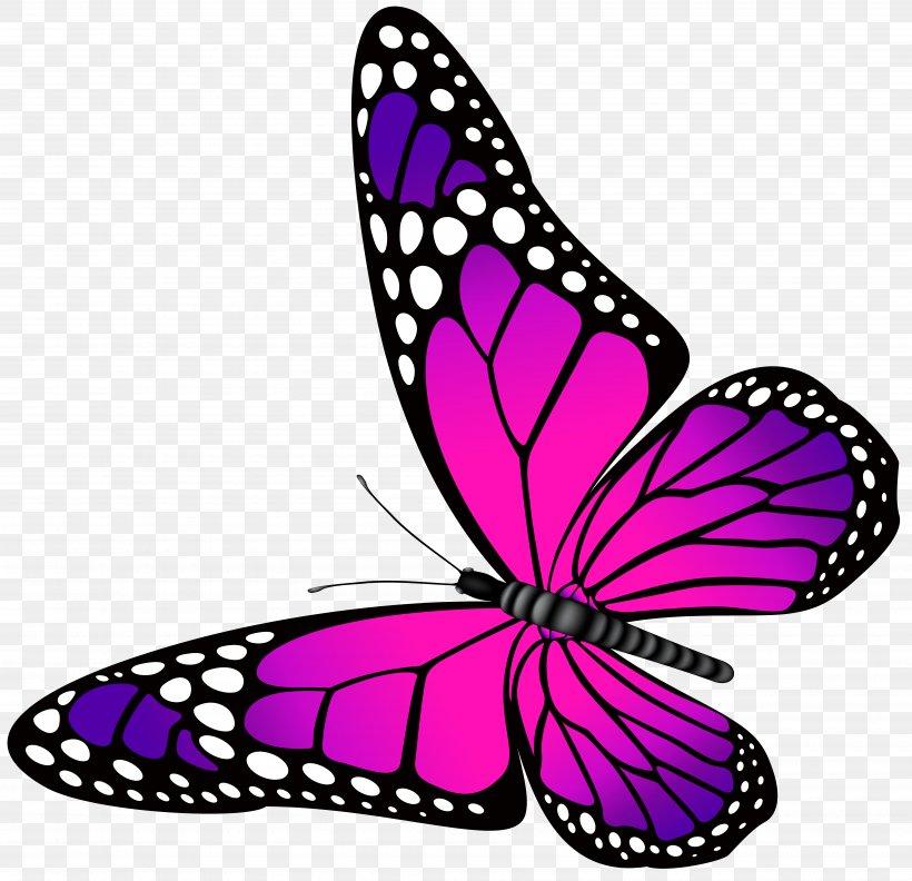 Butterfly Purple Clip Art, PNG, 7000x6769px, Butterfly.