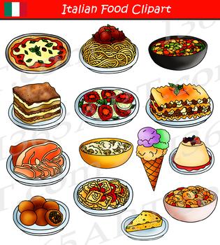 Italian Food Clipart Set.