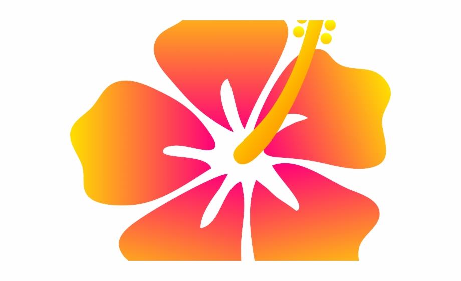 Cartoon Hawaiian Flower.