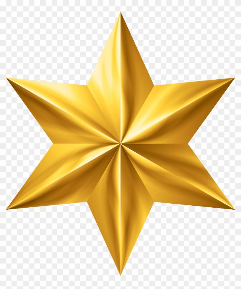 Gold Star Clip Art Png Image.