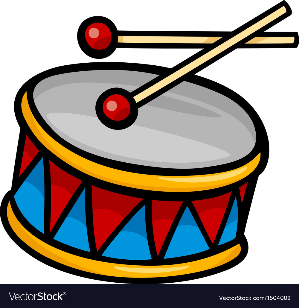 Drum clip art cartoon.