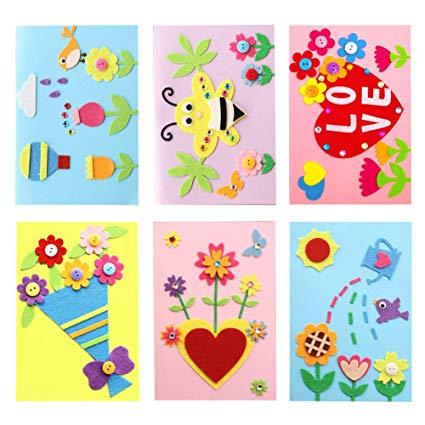 Amazon.com: Dsaren 6 Pcs DIY Greeting Card Kits Handmade.