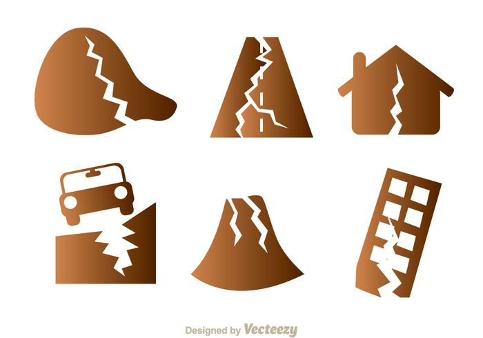 Earthquake Damage Icons.