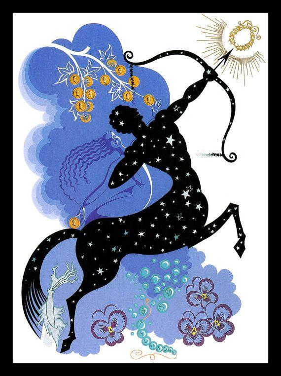 Erte Classic Art Deco Print, \'The Zodiac: Sagittarius.