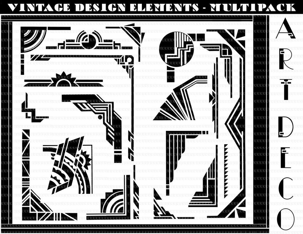 Free Art Deco Border Clipart Il Ccs Fullxfull.