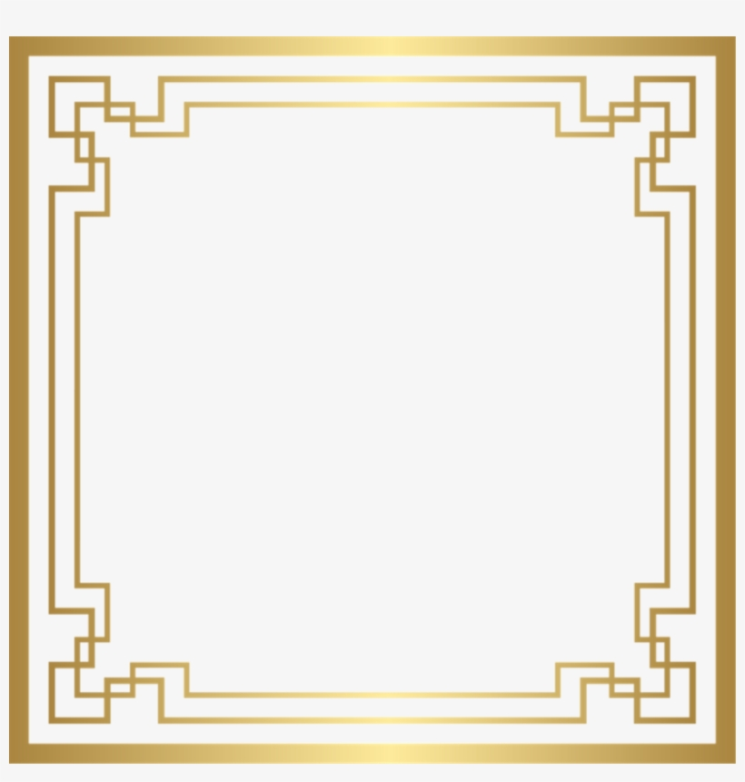 Square Gold Golden Frame Border Squareframe Decoration.