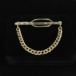 Details about Vintage HAYWARD Rose Gold Filled Tie Clip ART DECO Etched  HARD TO FIND 9.9 Grams.