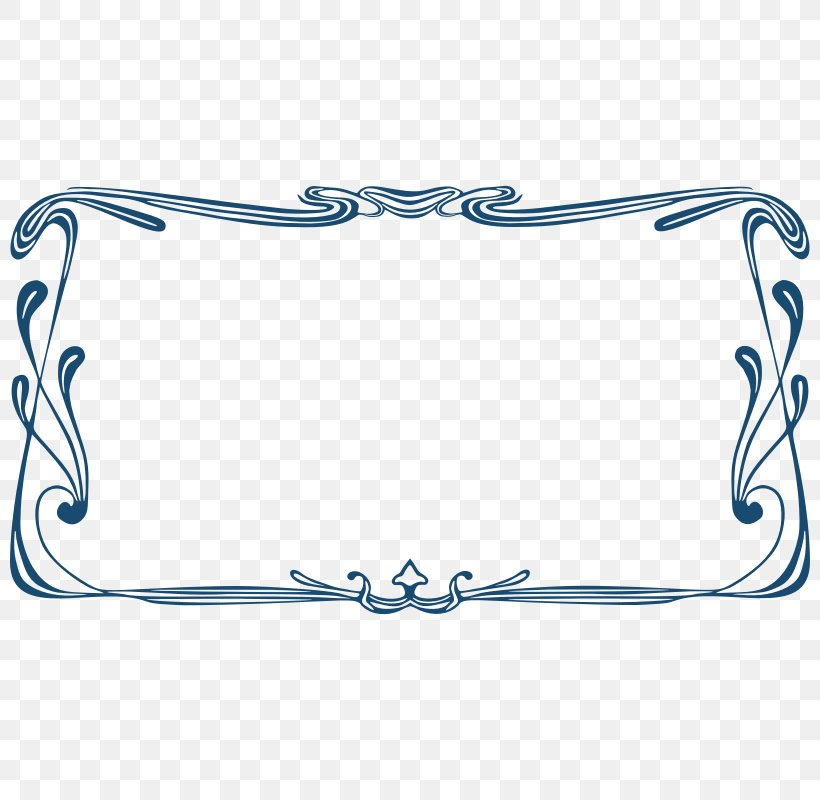 Borders And Frames Art Nouveau Ornament Clip Art Vector.