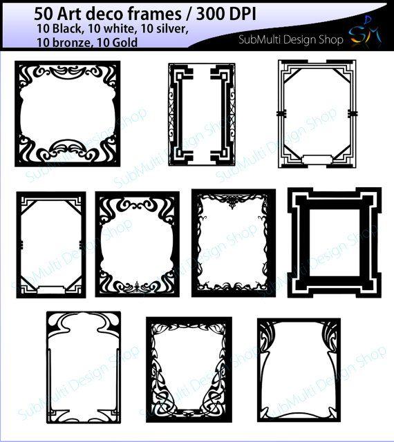 art deco frames / art deco frames clipart / art deco frames.