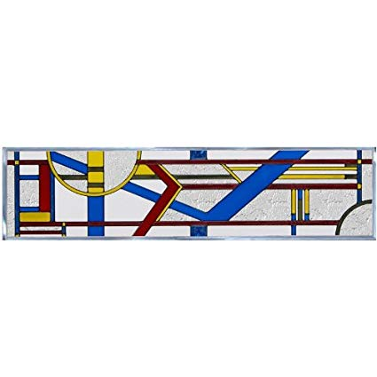Amazon.com: Silver Creek Deco Primary Painted Glass Panel R.
