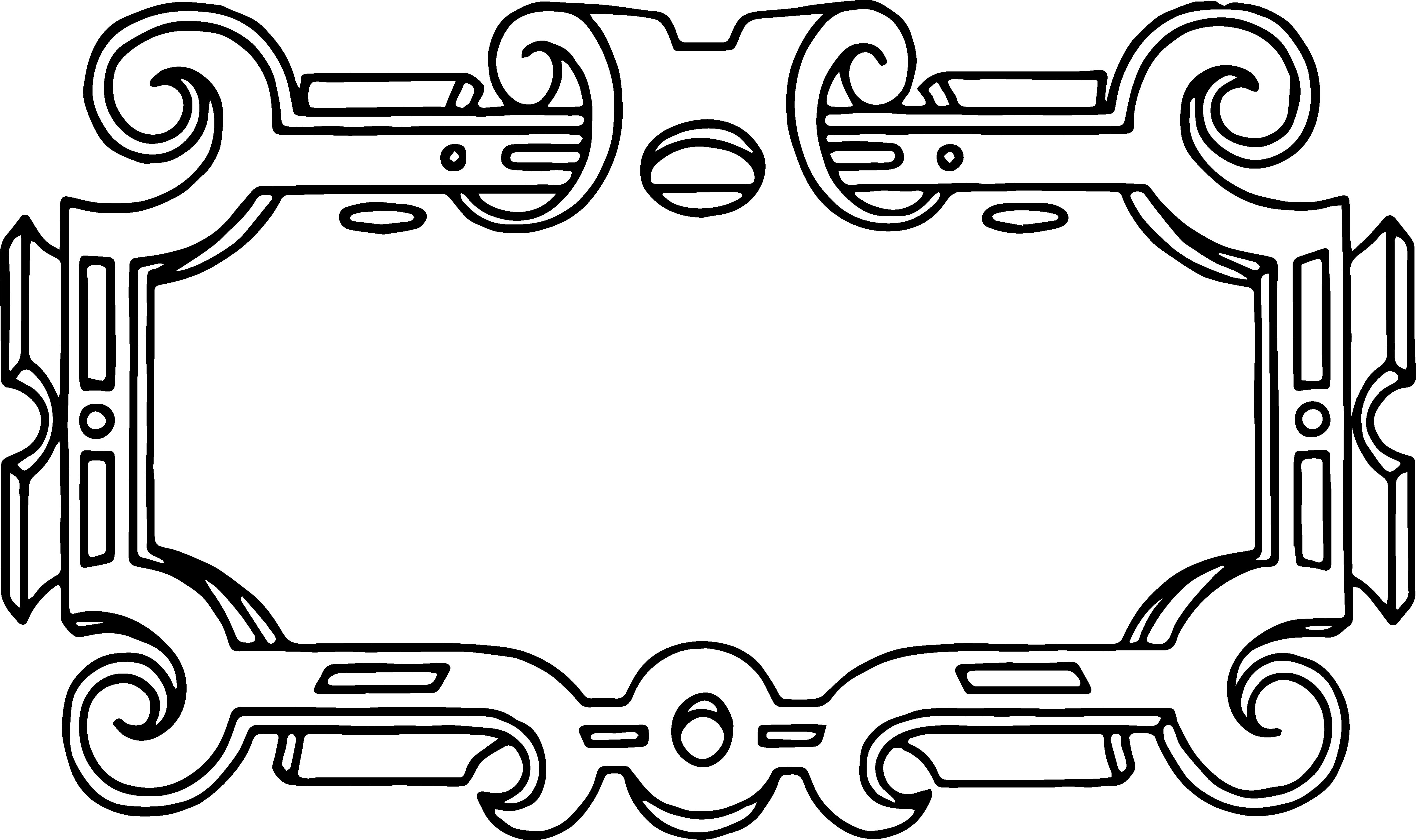 Art deco flourish free clip art Free vector for free.