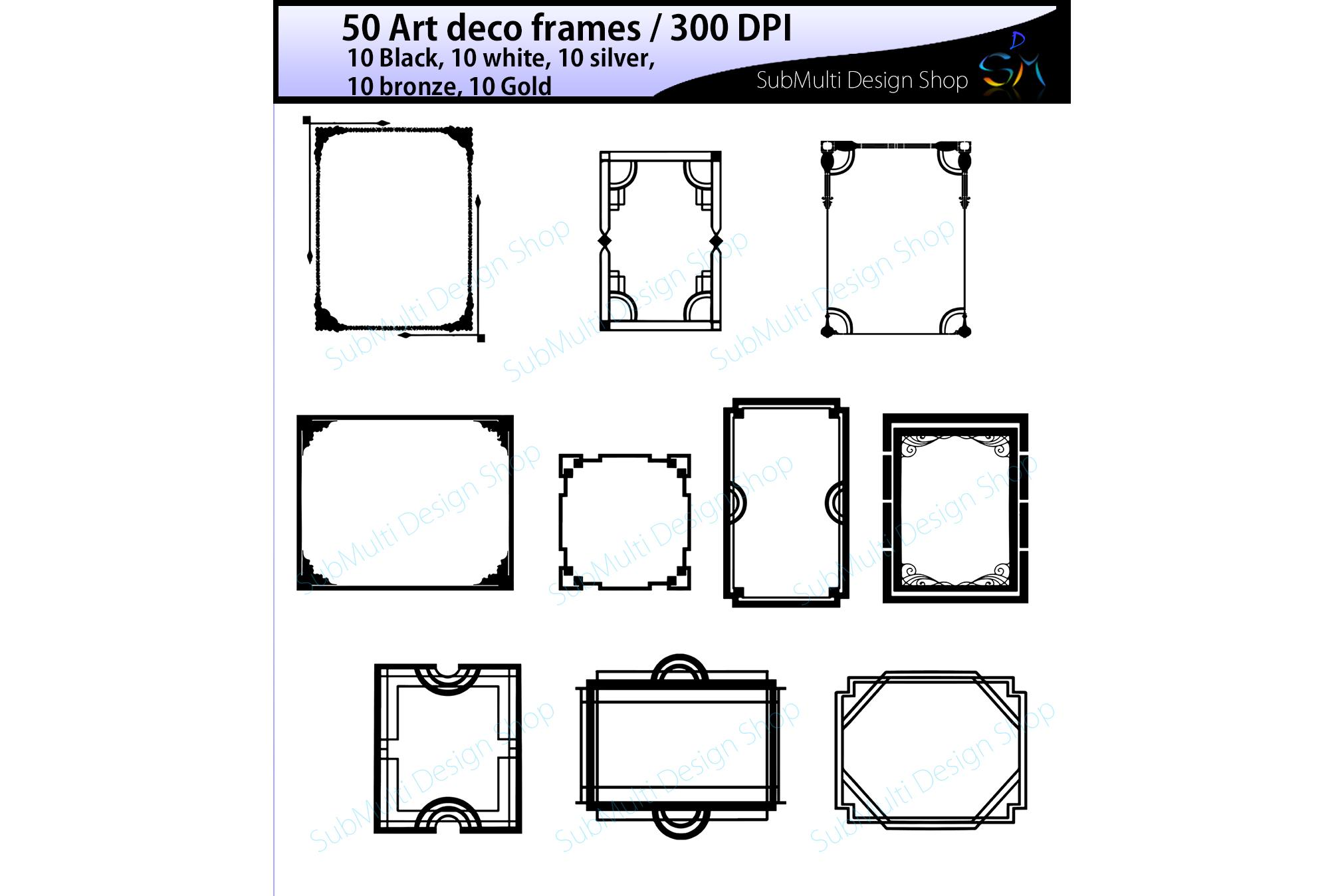 art deco frames / art deco frames clipart / art deco frames silhouette /  art deco gold frames / art deco silver frame / digital/High Quality.