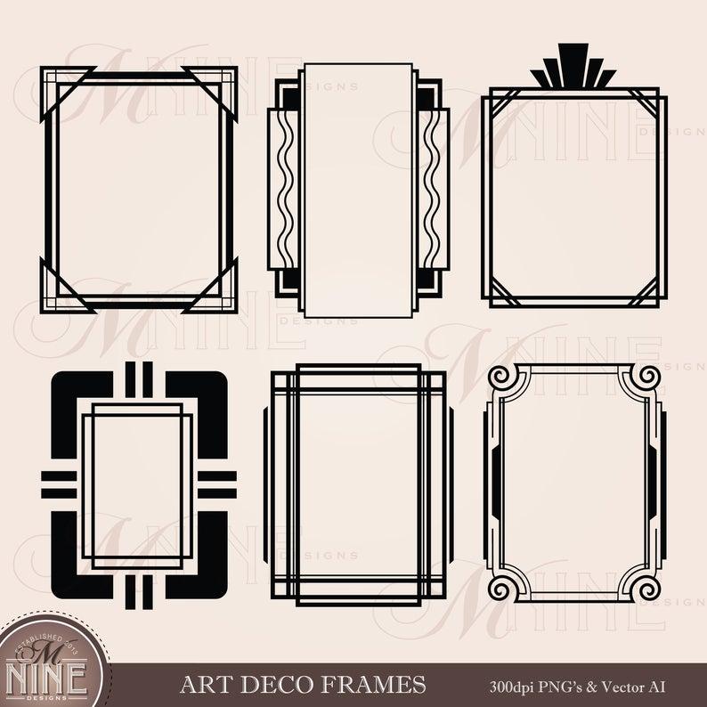 ART DECO FRAMES Clip Art.