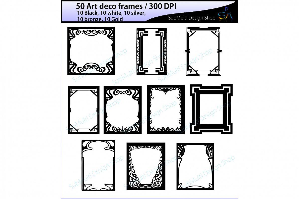 art deco frames / art deco frames clipart / art deco frames silhouette /  art deco gold frames / art deco silver frame / High Quality.
