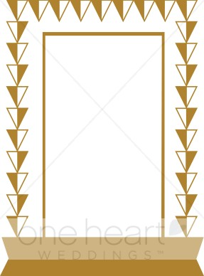 Gold Triangles Frame Clipart.