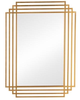 Baxton Studio Davide Art Deco Antique Gold Rectangular Accent Wall Mirror  from Houzz.