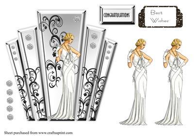 Art Deco Ladies Clipart.