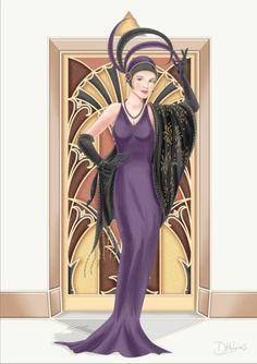 480 Art Deco free clipart.