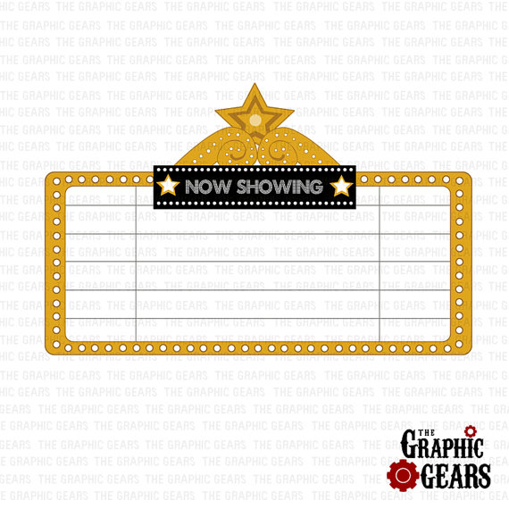 Marquee Clip Art Movie Theatre Sign Or Marquee Clip Art.
