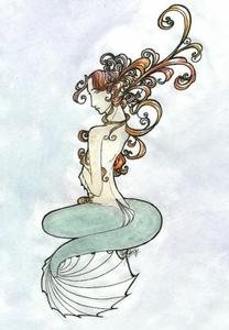 Art Nouveau Mermaid.