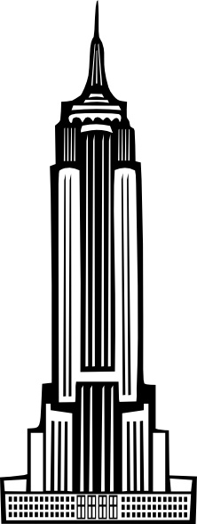 Boort Art Deco Empire State Building clip art Free vector in.