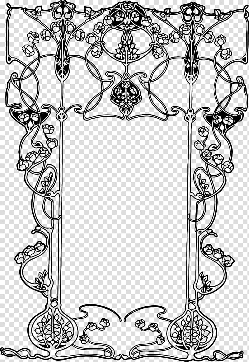 Art Nouveau Art Deco , aqua frame transparent background PNG.