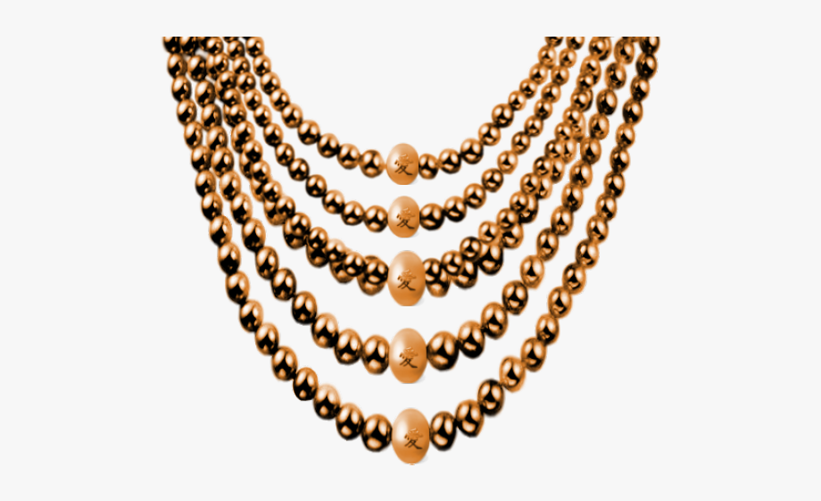 Pearl Clipart Beaded Necklace.