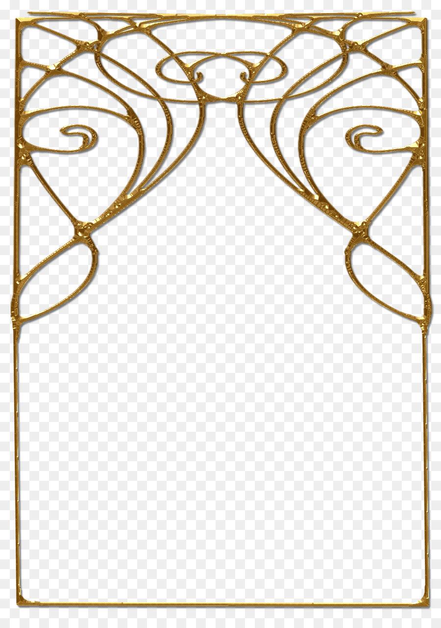 Art Deco Frame png download.