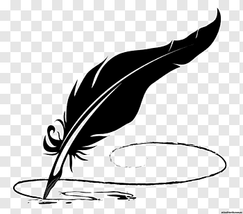 Quill cutout PNG & clipart images.