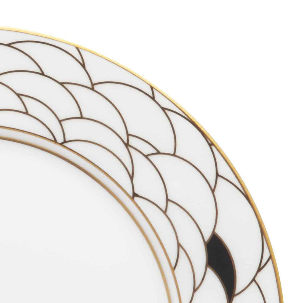 Art Deco Dessert Plate.