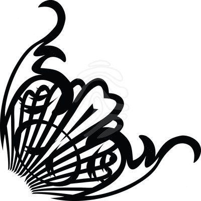 Clip art: deco swirl corner.
