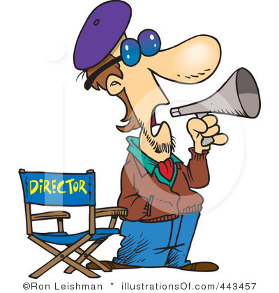 Movie director clipart.