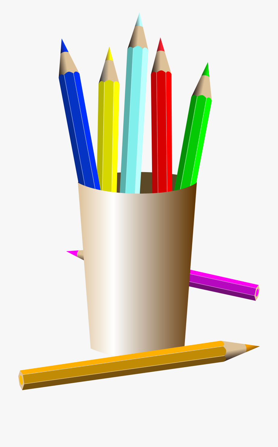 Artist Easel Clip Art Filled With Color.