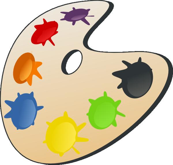 Color Palette clip art.